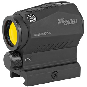 Sig Sauer Romeo5 X Compact Red Dot, 1X20mm, 2 MOA, AAA Battery, 1913 Mount Black Finish