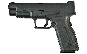 "Springfield Armory XDM9201HCE XD(M) Full Size 9mm Luger 4.5"" 19+1 Black Interchangeable Backstrap Grip Black Melonite"