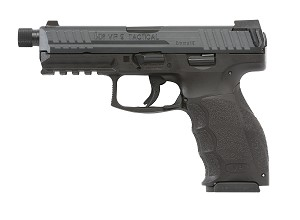 "HK 700009TLEA5 VP9 Tactical DAO 9mm 4.7"" TB 15+1 3 Mags NS Black Interchangeable Backstrap Grip Black"