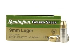 Remington Golden Saber 9mm 124gr JHP