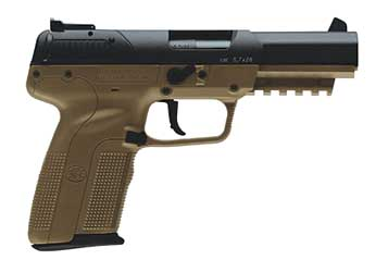 FN FIVE SEVEN 5.7X28M 20RD FDE With 500rds of Ammo