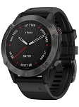 Garmin 0100255810 fenix 6 Sapphire Watch Black/Gray iPhone/Android