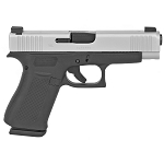 Glock 48 9mm, Silver Slide, Ameriglo Night Sights