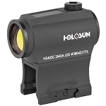 Holosun HS403C Micro Red Dot, 2 MOA, Solar with Battery, Includes Low and 1/3 Co-Witness Mounts