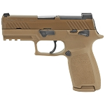 Sig Sauer P320 M18 9mm NS 1-17rd, 2-21rd Magazines Coyote Tan