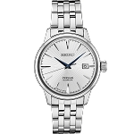 SEIKO PRESAGE COCKTAIL TIME MENS STAINLESS STEEL SILVER DIAL AUTOMATIC WATCH SRPB77