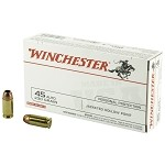 Winchester Ammo USA45JHP USA 45 ACP 230 gr Jacketed Hollow Point (JHP) Box of 50 Rounds